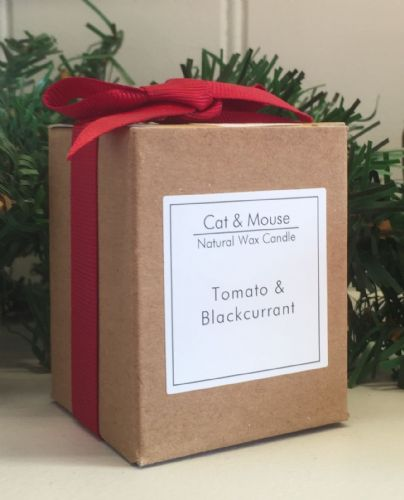 Scented Candle  9cl in a Gift Box - Tomato & Blackcurrant